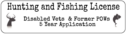 Veterans Hunting and Fishing License